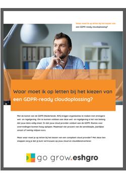 Whitepaper - Kies GDPR Proof cloudoplossing