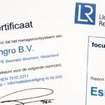 Succesvolle jaarlijkse ISO 27001 en NEN 7510 audit